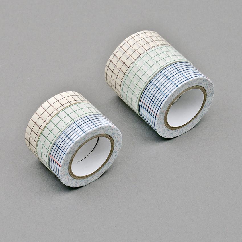 Masking Tape «Gitternetz»  3 Farben Set