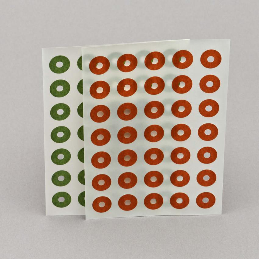 Lochverstärker aus Seidenpapier