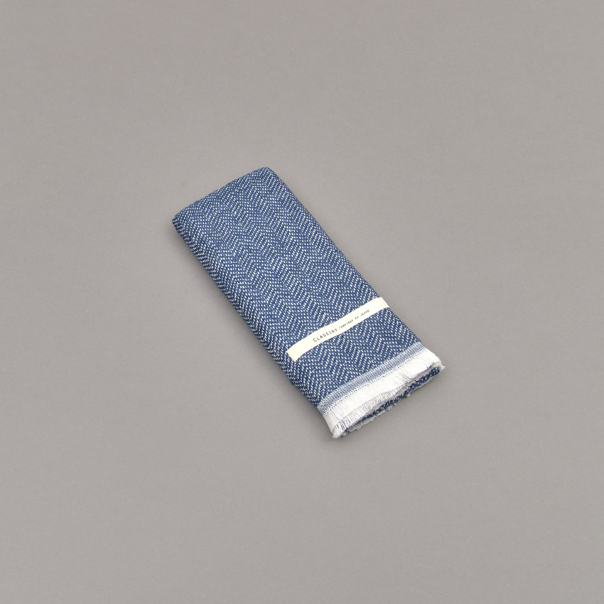 Kleiner japanischer Schal (dunkelblau)