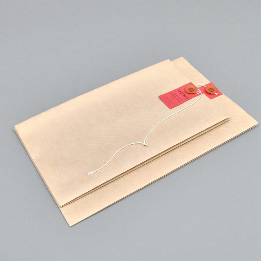 Wachspapier-Umschlag mit Schnur-Verschluss