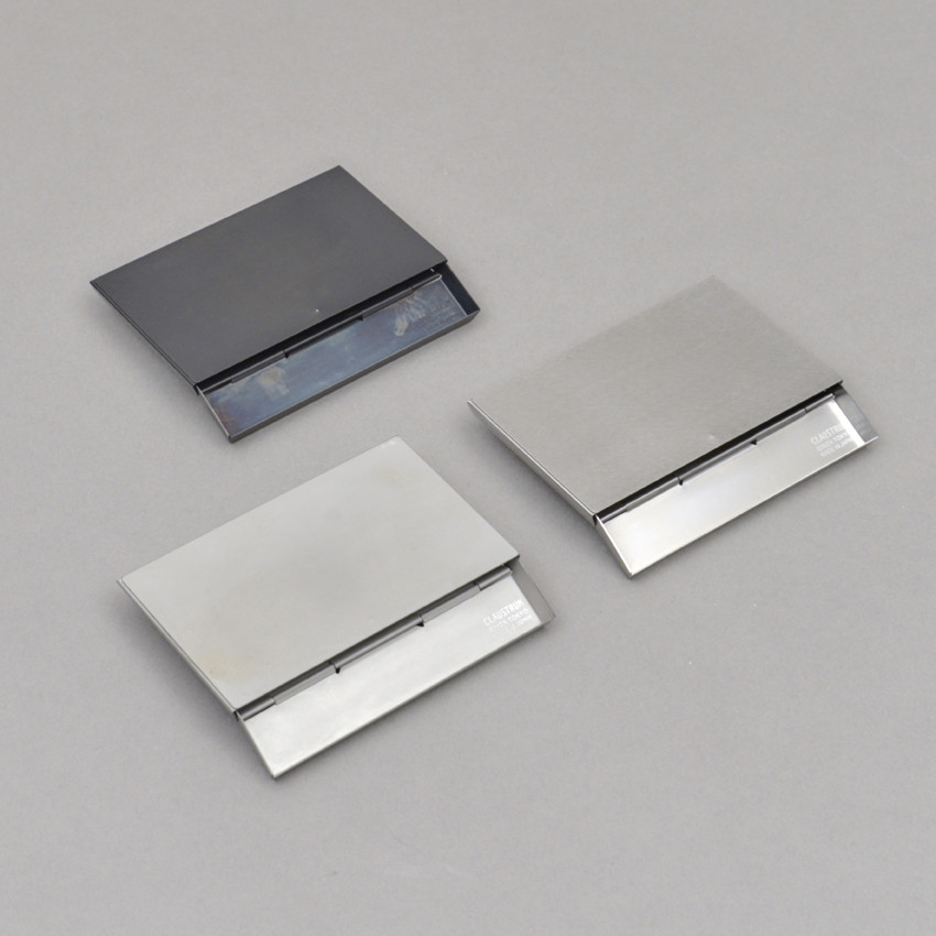 Raffiniertes Visitenkartenetui Silber