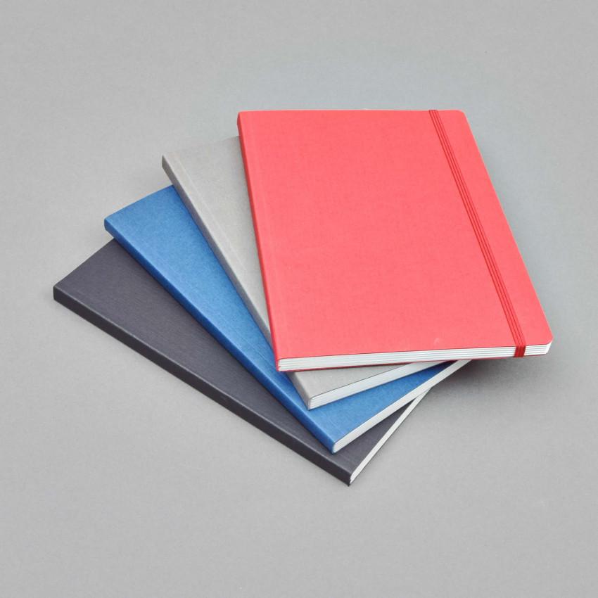 Schlichtes A5 Blanko-Notizbuch mit Gummiband