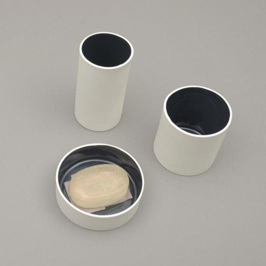Tischablagen aus Keramik von JL (weiss)