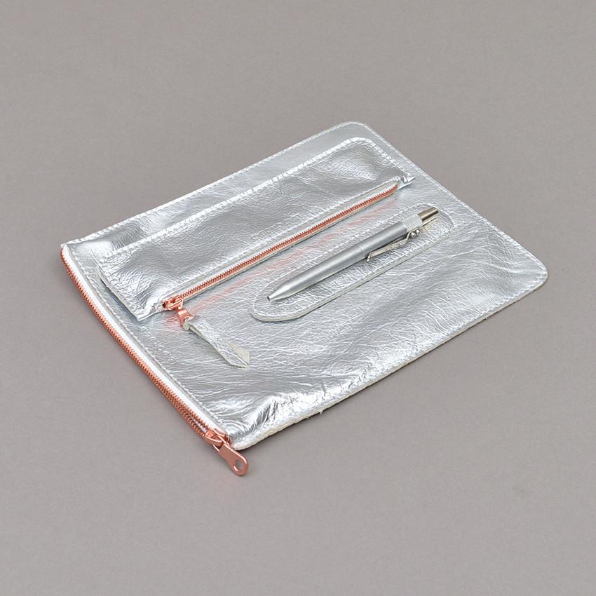 iPad, Stifte- und Stift-Etuis silber