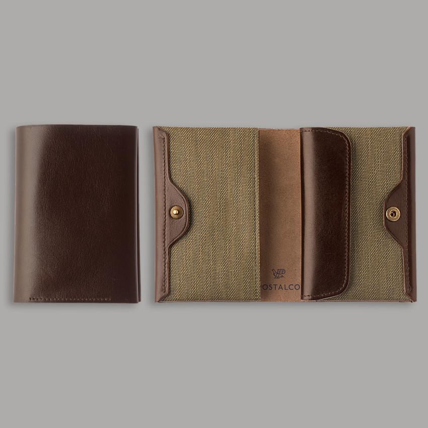 Kompaktes japanisches Portemonnaie – Olivgrün