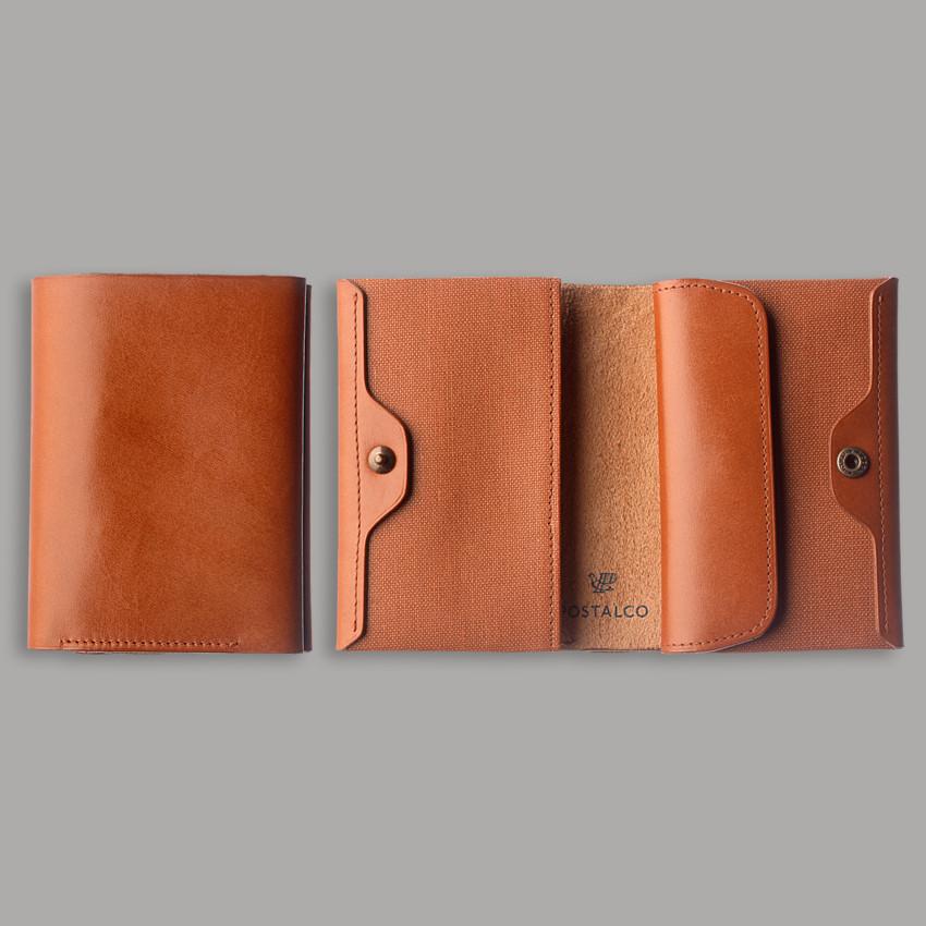 Kompaktes japanisches Portemonnaie – Ziegelrot