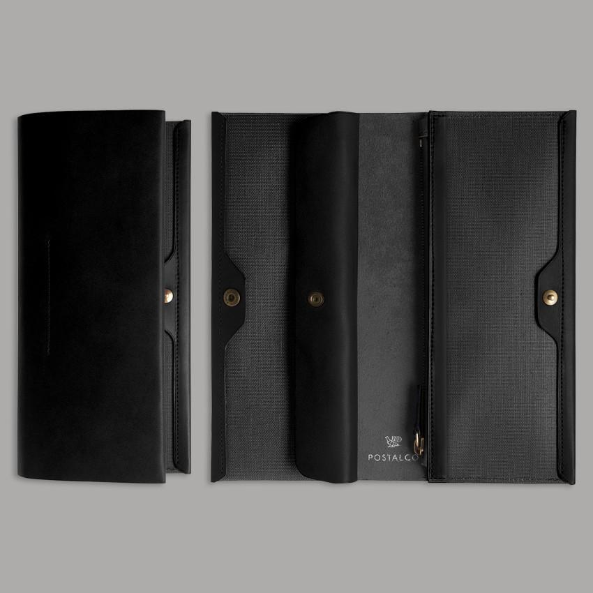 Elegantes japanisches Portemonnaie – Schwarz