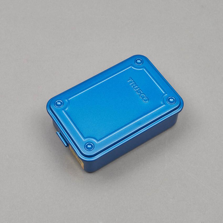 Kleine stapelbare Aufbewahrungsbox (blau)