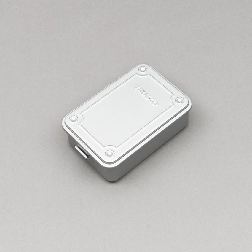 Kleine stapelbare Aufbewahrungsbox (silber)