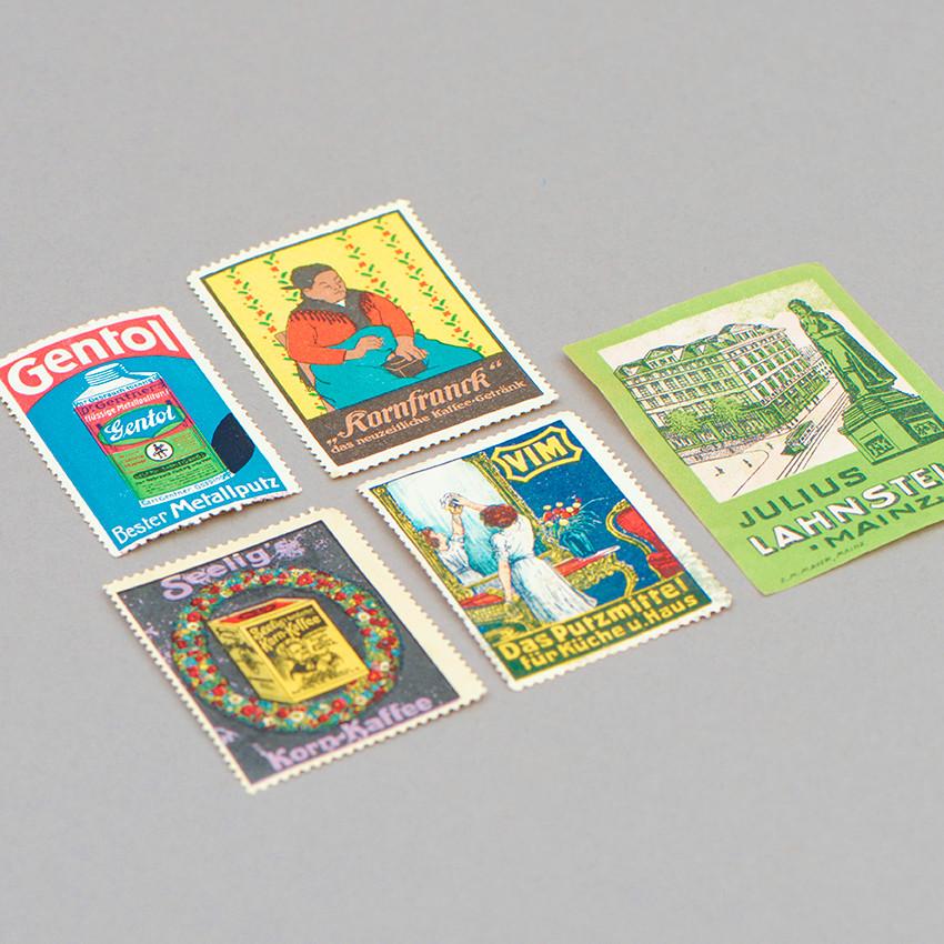 Vintage Werbemarken