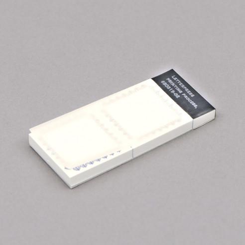 Etikettenblock klein – abreissbar (38×38mm)