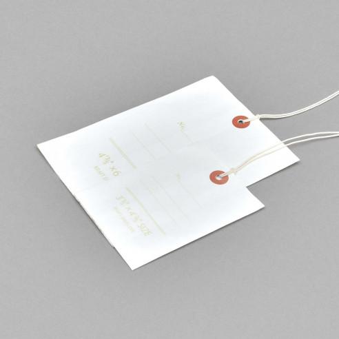 Kraftpapier-Säckchen als Anhänger (Weiss)