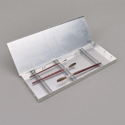 Grosse Pinselbox aus Aluminium