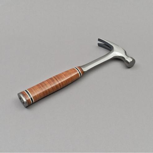 16 Oz Stahlhammer mit Ledergriff