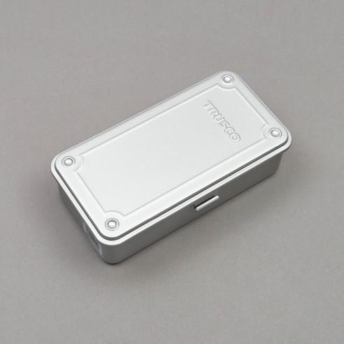 Stapelbare Aufbewahrungsbox (silber)