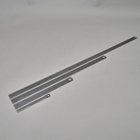 Brünierte Stahlmassstäbe 15 cm bis 1 m